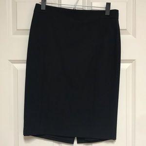 Navy Ann Taylor Pencil Skirt